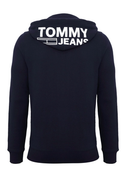 Tommy Jeans Graphic Zipthru Hoodie Navy