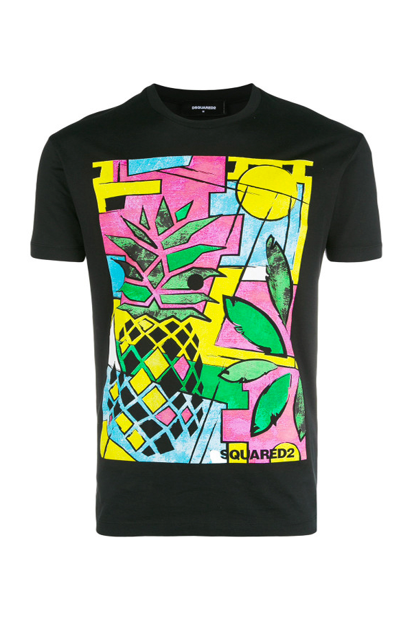 Dsquared2 Pineapple Tee Black