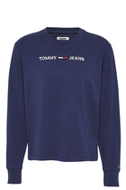 Tommy Jeans L/S Logo Tee Navy