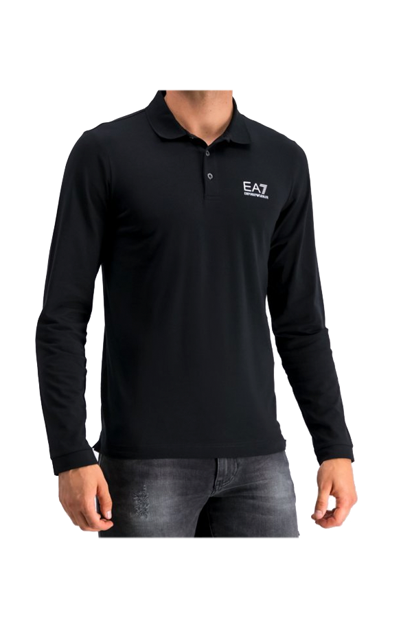 Armani EA7 Core L/S Polo Black