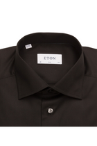 ETON Slim fit Poplin Shirt Black