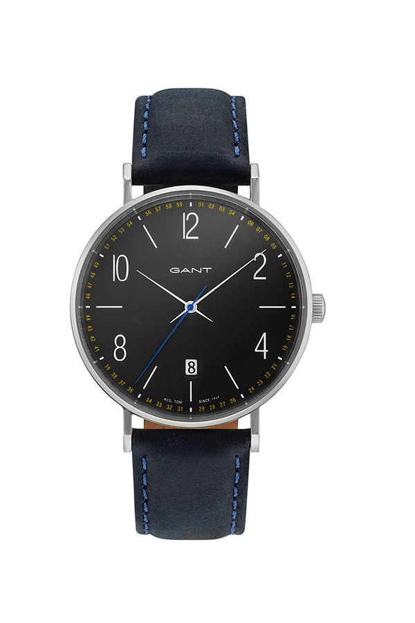 GANT Detroit Watch Navy Leather