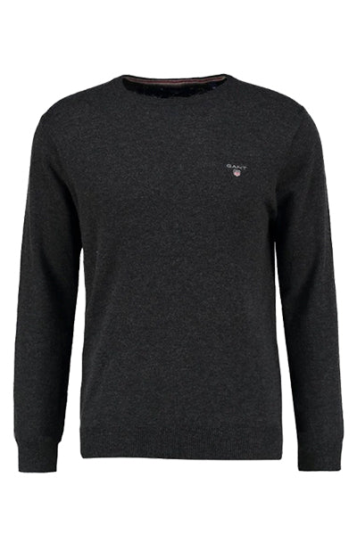 GANT Lambswool Pullover Charcoal Grey