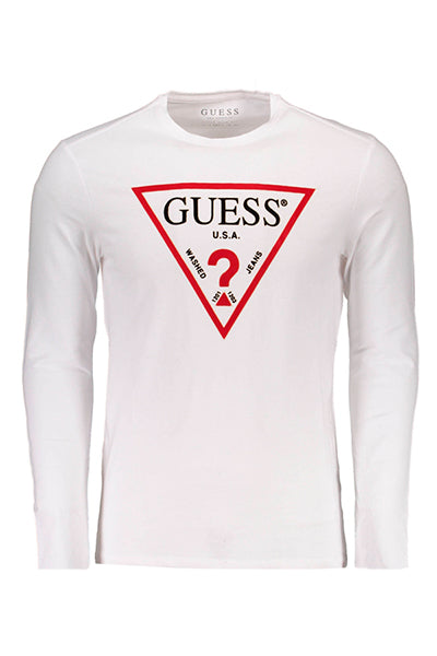 Guess Jeans Longsleeve Logo Tee White