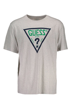 Guess Jeans Logo Tee Grey Signature Green