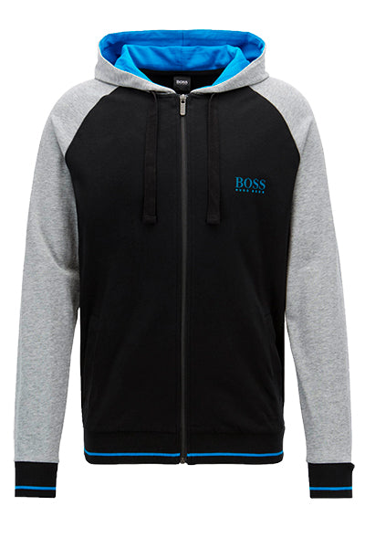 hugo boss Hugo boss authentic jacket hoodie black contrast - l på luxivo.dk