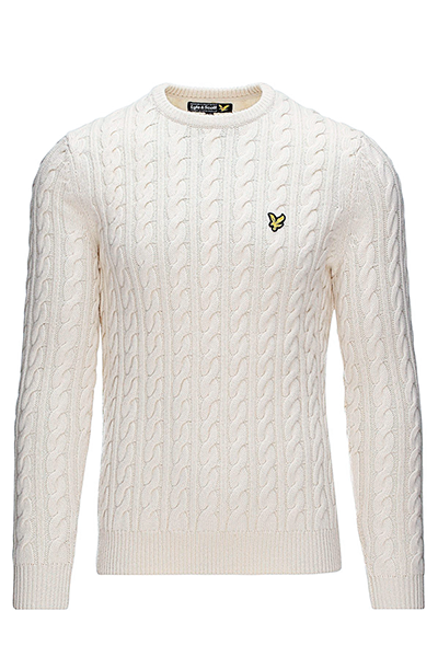 Image of   Lyle & Scott Cable-Knit Sweater White - L