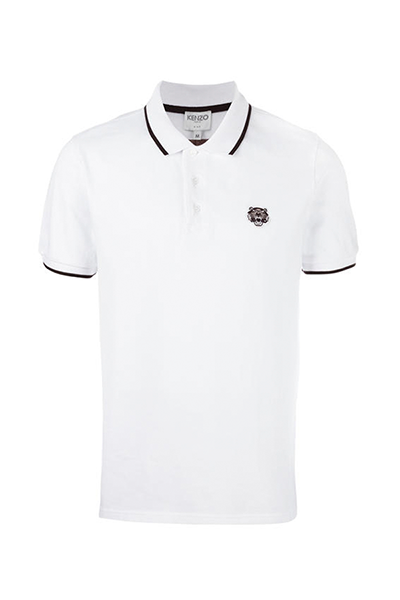 kenzo – Kenzo 2016 tiger crest polo shirt white - l fra luxivo.dk