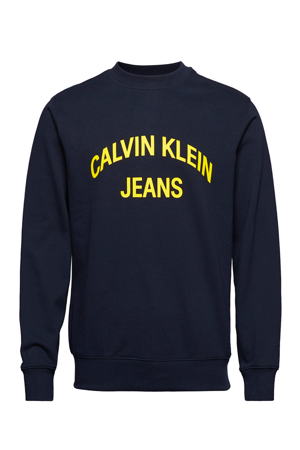 Calvin Klein Curved Logo Sweatshirt Night Sky