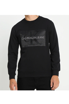 Calvin Klein Outlined Monogram Sweatshirt Black