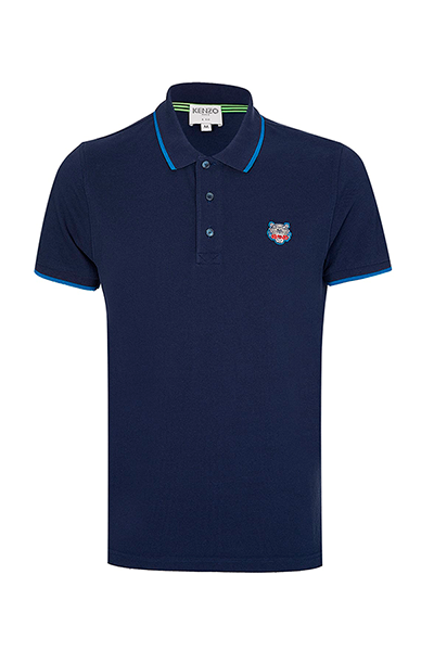 kenzo – Kenzo 2016 tiger crest polo shirt navy - xl på luxivo.dk