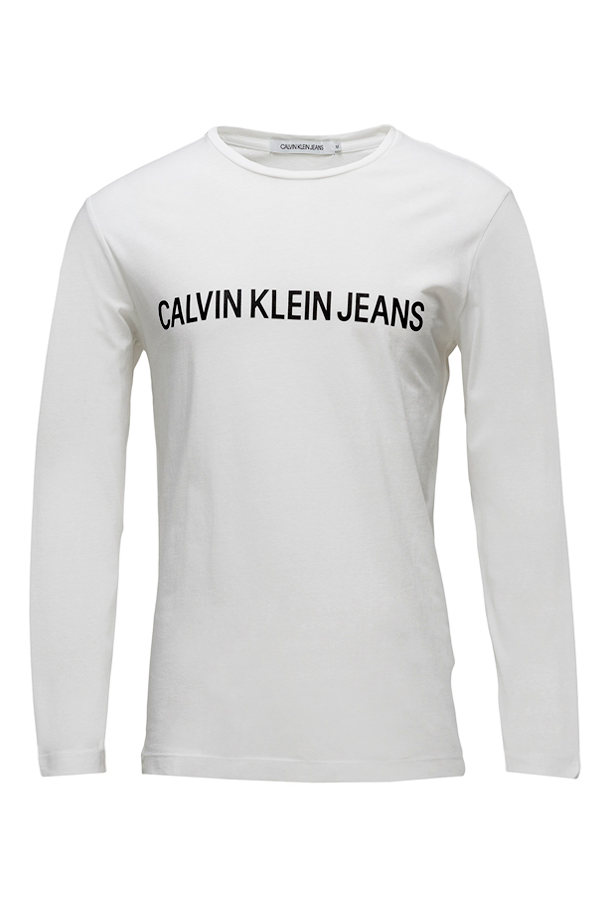Calvin Klein L/S Institutional Logo Tee White