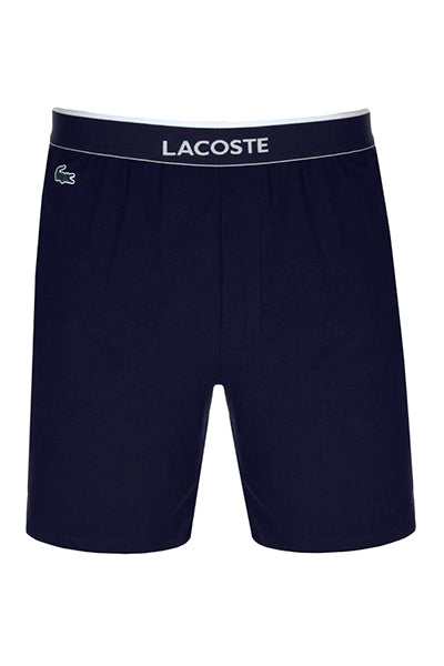 lacoste – Lacoste cotton shorts navy - s fra luxivo.dk