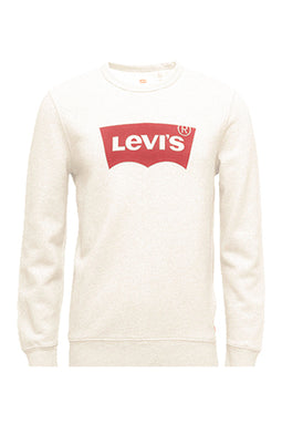 Levi's Crew Neck Logo Sweatshirt Cream White