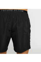 Calvin Klein Double Waistband Swimshorts Black