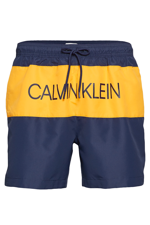 Calvin Klein Drawstring Color Block Swimshorts Blue Shadow