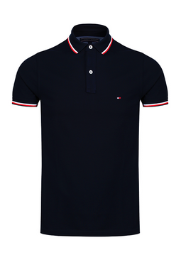 Tommy Hilfiger Tipped Slim Polo Black