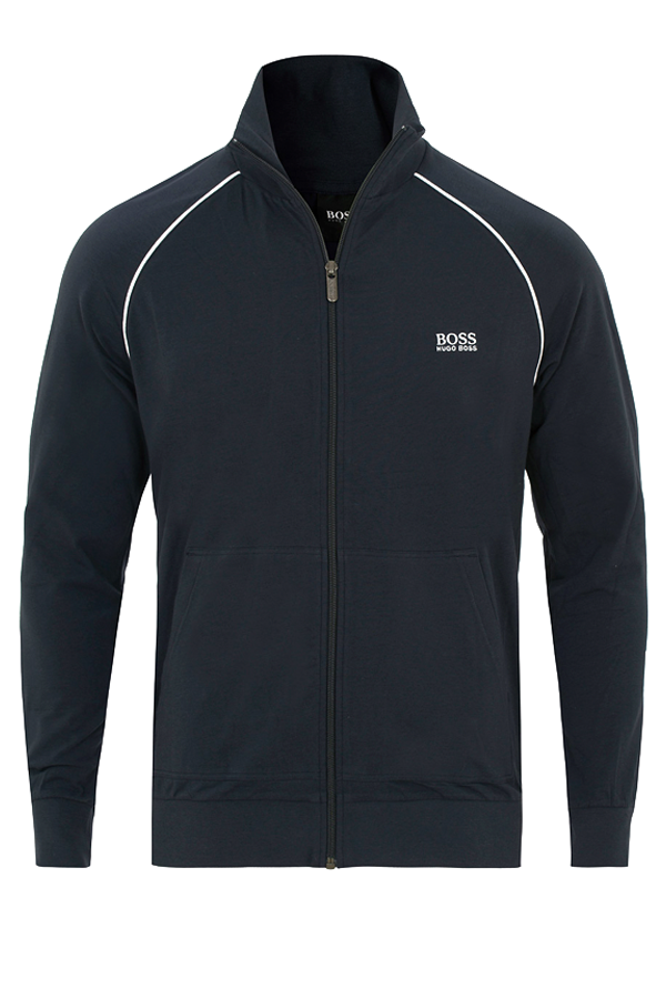 hugo boss Hugo boss full zip cotton jacket open blue - l på luxivo.dk