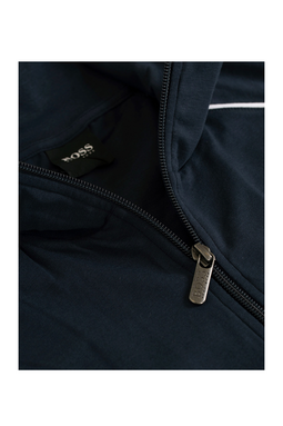 Hugo Boss Full Zip Cotton Jacket Open Blue