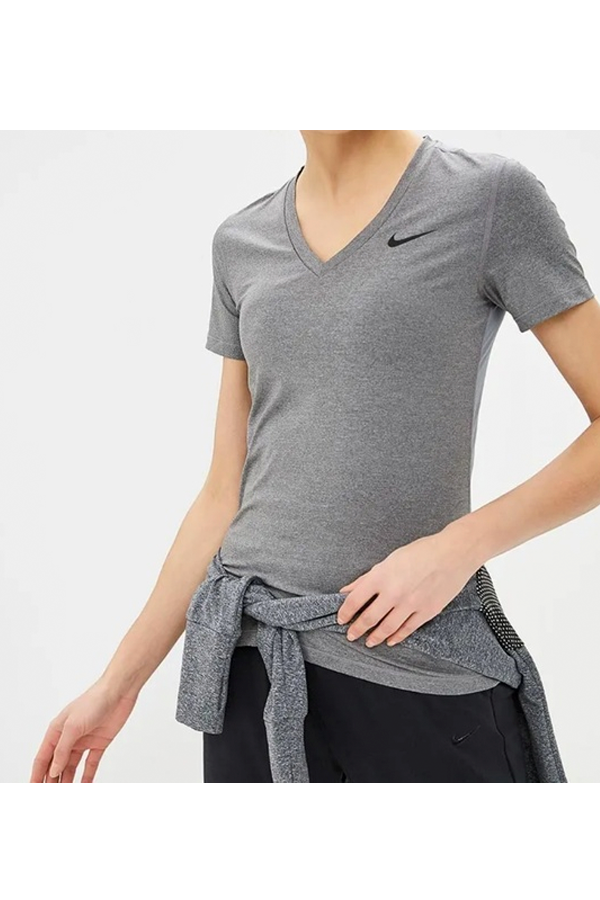 Nike Women Dry Fit S/S Training Tee Grey