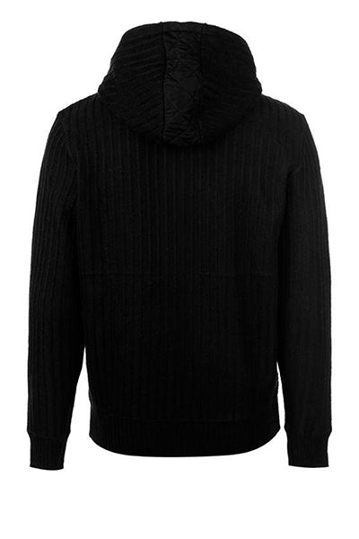 Pierre Cardin Quilted Fleece Jacket Black