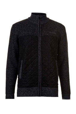 Pierre Cardin Mix Jacket Charcoal