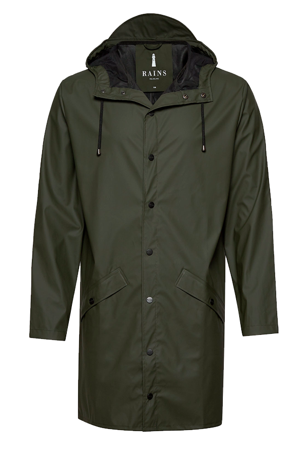 Rains 1202 Long Jacket Green