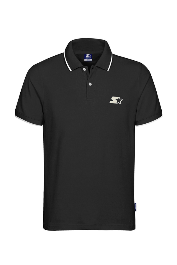 Image of   Starter Pique Polo Black - L