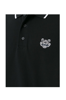 Kenzo 2016 Tiger Crest Polo Shirt Black