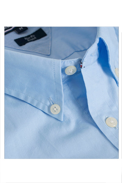 Tommy Hilfiger Slim Fit Poplin Shirt Blue