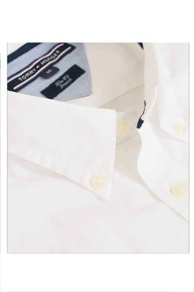 Tommy Hilfiger Slim Fit Poplin Shirt White