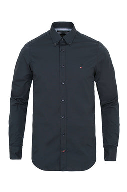 Tommy Hilfiger Slim Fit Poplin Shirt Navy