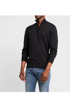 Tommy Hilfiger Organic Cotton Silk 1/4 Zip Black