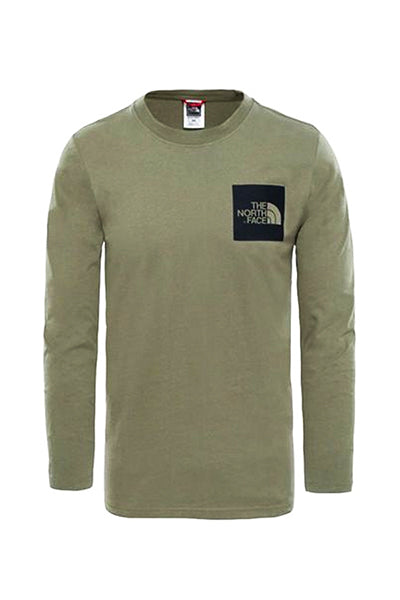 the north face the north face longsleeve fine tee deep green - l