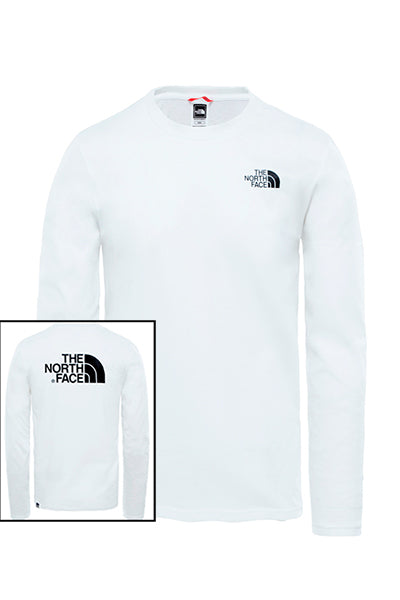 the north face The north face l/s easy tee white - m på luxivo.dk