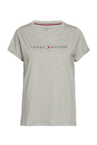 Tommy Hilfiger Women Original S/S Logo Tee Grey