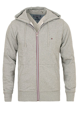 Tommy Hilfiger Cotton Zip Hoodie Grey