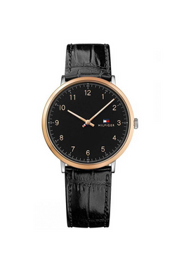 Tommy Hilfiger Leather Watch 1791339 Black