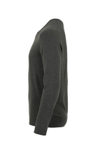 Tommy Hilfiger Cashmere Cotton V-Neck Pullover Grey Heather