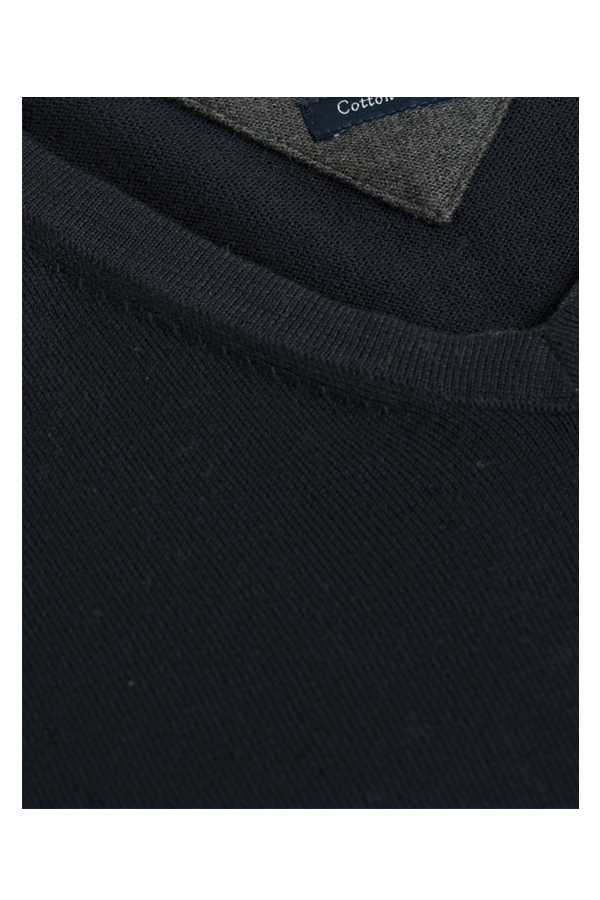 Tommy Hilfiger Cashmere Cotton V-Neck Pullover Navy