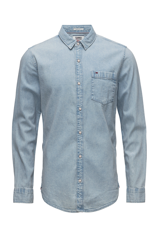 Tommy jeans denim shirt saunby light - xl fra tommy hilfiger på luxivo.dk