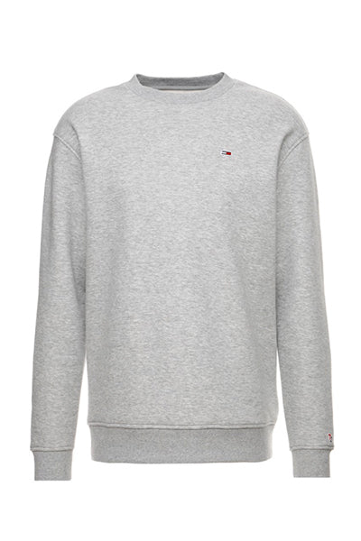 tommy jeans classics sweatshirt grey heather - l fra tommy hilfiger