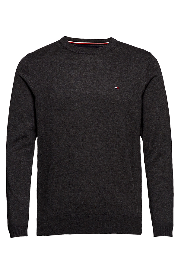 Tommy Hilfiger Cashmere Cotton Pullover Grey Heather