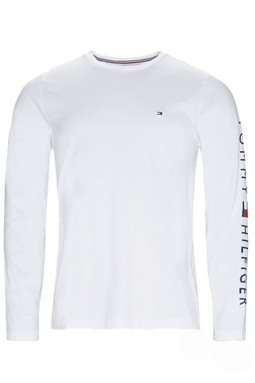 Tommy Hilfiger L/S Logo Sleeve Tee White