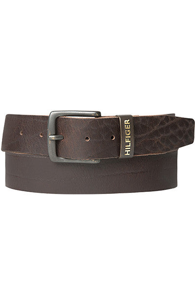 Tommy Hilfiger ORIGINAL LOGO BELT 4.0 Dark Brown