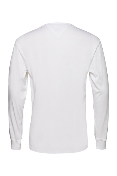 Tommy Jeans L/S Signature Tee White