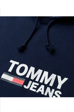 Tommy Jeans Corp Logo Hoodie Navy