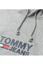 Tommy Jeans Corp Logo Hoodie Grey Heather