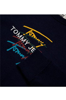 Tommy Jeans L/S Signature Tee Navy