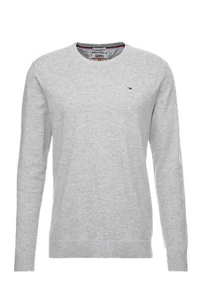 tommy hilfiger – Tommy jeans essential pullover grey heather - xxl fra luxivo.dk